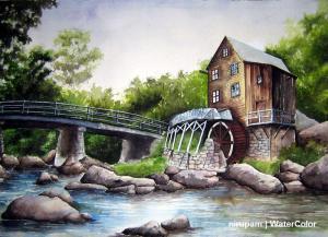 Nirupam Das Watercolor Painting